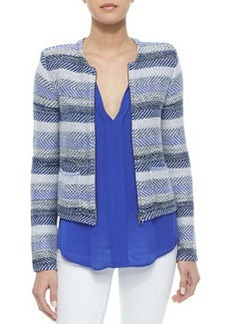 Jacolyn B Striped Jacquard Jacket   Jacolyn B Striped Jacquard Jacket