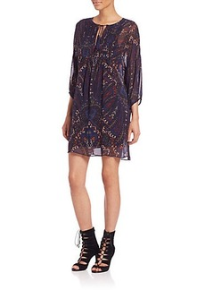 Joie Aggi Silk Paisley-Print Dress