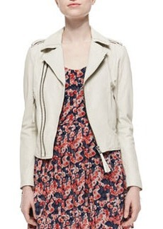 Joie Ailey Paper-Weight Leather Moto Jacket