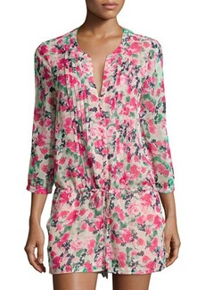 Joie Amara C Pleated Floral Romper