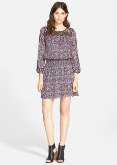 Joie 'Amedeo' Print Silk Blouson Dress