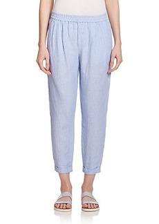 Joie Arava Cropped Linen Track Pants