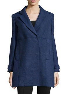 Joie Asymmetric Felt Top Coat, Cobalt