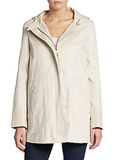 Joie Atout Leather-Trimmed Cotton Twill Jacket
