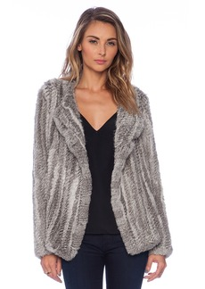 Joie Aviana Rabbit Fur Coat
