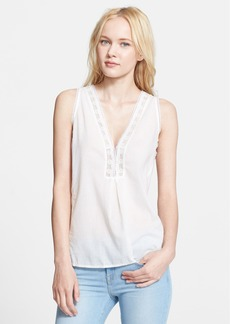 Joie 'Avielle' Lace Trim Cotton Top