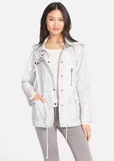 Joie 'Barker A' Leopard Print Jacket with Stowaway Hood