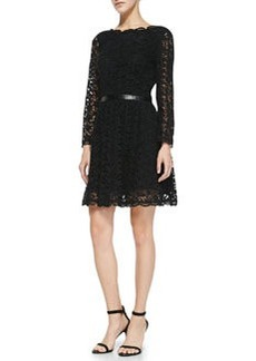 Joie Baronessa Belted Lace Dress
