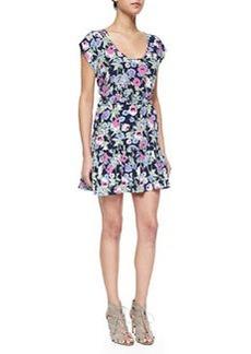 Joie Belinda Floral-Print Silk Dress