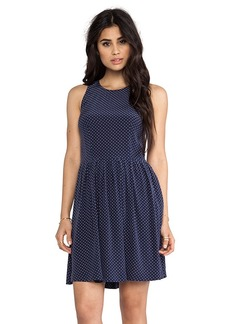 Joie Bernadine Polka Dot Dress in Navy