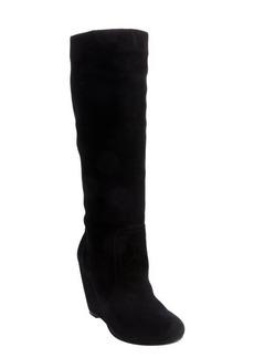 Joie black suede 'Paira' wedge heel boots