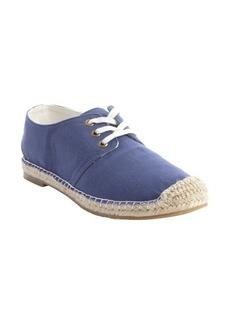 Joie blue canvas 'Hemlock' raffia midsole sneakers