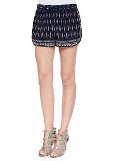Joie Bogen Printed Relaxed Silk Shorts