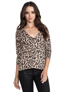 Joie Bold Leopard Print Chyanne Sweater in Brown
