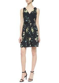 Joie Braydon Floral-Print Silk Dress