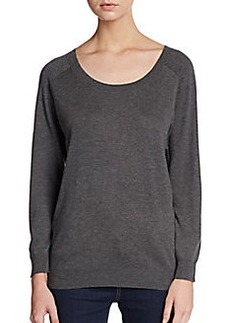 Joie Bronx Faux Suede Elbow Patch Sweater