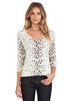 Joie Brooklyn Animal Print Sweater in Beige
