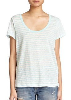 Joie Caelesta Cotton Stripe Tee