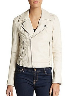 Joie Caldine Leather Moto Jacket