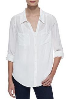 Joie Cartel Silk Long-Sleeve Blouse