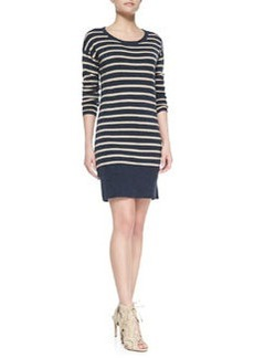 Joie Cashel Striped & Solid-Knit Dress