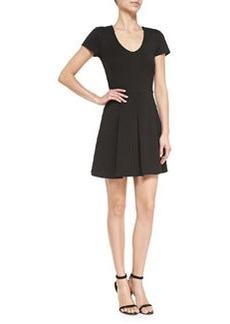 Joie Chikara Pleated Ponte A-Line Dress