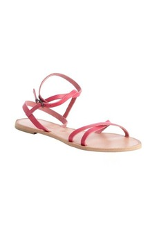 Joie coral leather ankle strap 'Larochelle' sandals