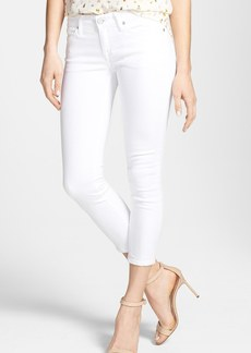 Joie Crop Stretch Skinny Jeans (Dandelion White)