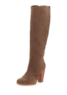Joie Dagny Suede Knee Boot, Charcoal