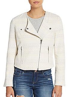 Joie Darnel Jacquard Knit Moto Jacket