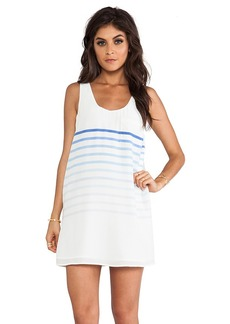 Joie Dawna B Placed Gradient Stripe Dress in White