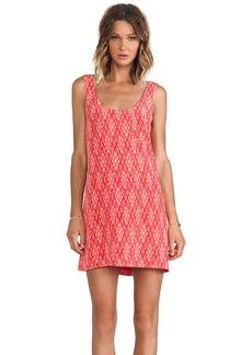 Joie Dawna Ikat Tank Dress in Coral