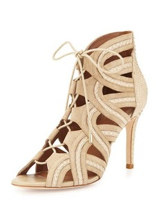 Joie Dean Lace-Up Gladiator Pump, Dusty Pink Sand