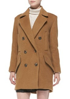 Joie Delsa Double-Breasted Felt Coat