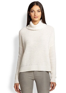 Joie Dion Slouched Chunky-Knit Wool Turtleneck Sweater