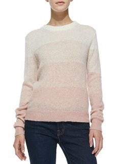 Joie Dorianna Shadow-Stripe Knit Sweater