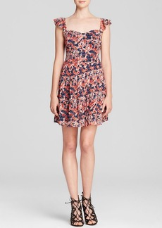 Joie Dress - Edelfina Whimsical Watercolor Floral Silk