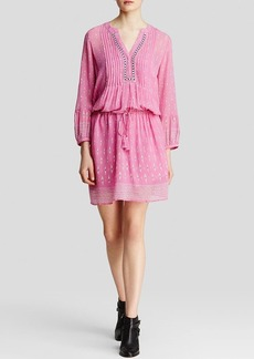 Joie Dress - Suerte Palm Ikat Drawstring