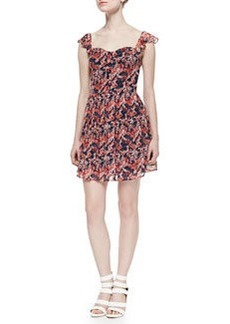 Joie Edelfina Floral-Print Silk Dress