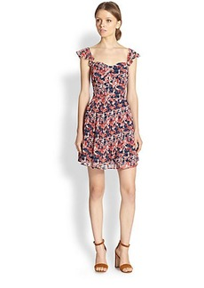 Joie Edelfina Poppy-Print Dress
