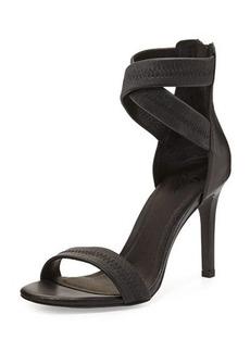 Joie Elaine Leather Ankle-Wrap Sandal, Black