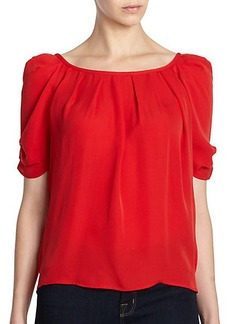 Joie Eleanor Silk Bow-Back Blouse