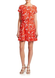 Joie Eley Printed Layer-Effect Dress