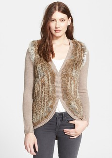 Joie 'Ellera B' Genuine Rabbit Fur Cardigan