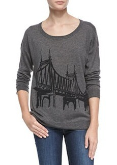 Joie Eloisa Bridge-Pattern Knit Sweater