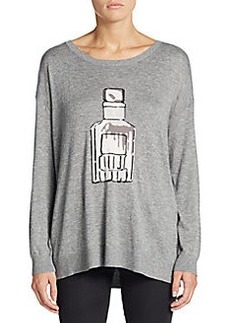 Joie Eloisa Perfume Bottle Intarsia Sweater