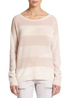 Joie Eloisa Stripe-Front Cashmere Sweater