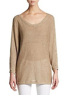 Joie Emilie Open-Weave Linen Sweater