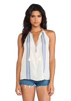 Joie Eniko Embroidered Crepe Tank