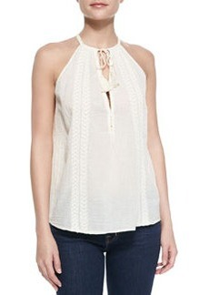 Joie Eniko Voile Embroidered Tank Top